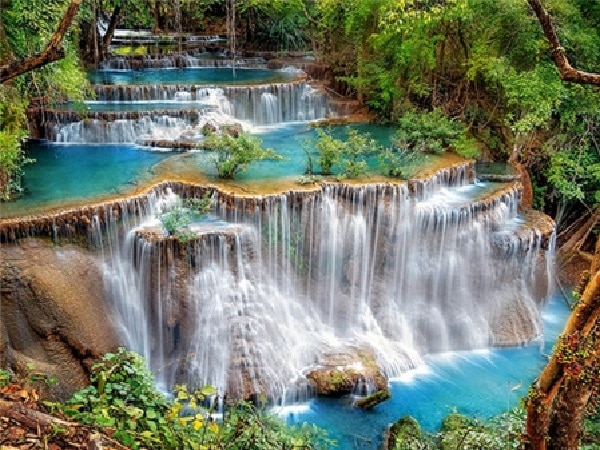 Billede af mange vandfald