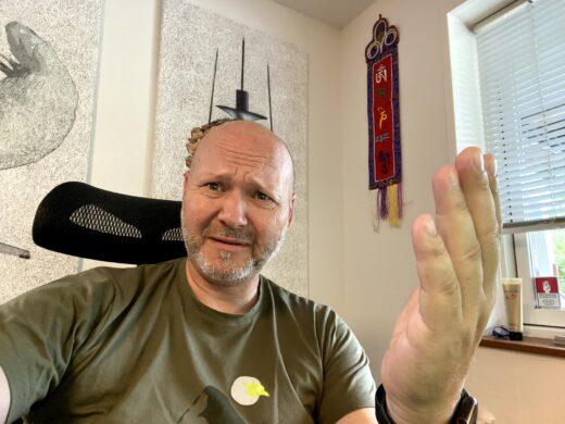 Forretningsudvikleren Mikael Lykkegaard Have ser forvirret ud
